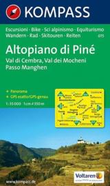 Wandelkaart Altopiano di Piné-Val di Cembra-Val dei Mocheni | Kompass 075 | 1:35.000 | ISBN 9783854915621
