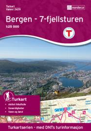 Wandelkaart Bergen 2429 | Nordeca | 1:25.000 | ISBN 7046660024294