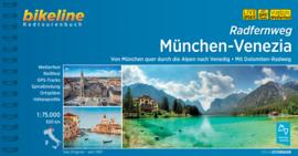 Fietsgids München naar Venetië - 600 km. | Bikeline | ISBN 9783850006842