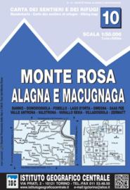 Wandelkaart Monte Rosa - Alagna Valeisa | IGC nr.10 | 1:50.000 | ISBN 9788896455135