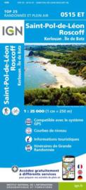 Wandelkaart 0515ET - 0515 ET St.Pol-de-Léon, Roscoff, Brignogan-Plage, Plouescat, Cléder | Bretagne