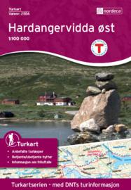 Wandelkaart  Hardangervidda Ost - Oost 2556 | Nordeca | 1:100.000 | ISBN 7046660025567