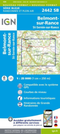 Topo-, wandelkaart Belmont-sur-Rance / St-Sernin-sur-Rance |  IGN 2442SB | ISBN 9782758534303