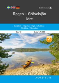 Wandelkaart Rogen - Grovelsjon - Idre | Norsteds 13 | ISBN 9789113105109
