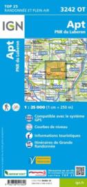 Wandelkaart Apt / PNR du Luberon Alpen | Vaucluse - Drome | IGN 3242OT - IGN 3242 OT
