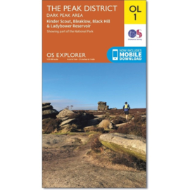 Wandelkaart The Peak district-Dark Peak Area | Explorer Maps OL1 | Ordnance Survey | 1:25.000 |  ISBN 9780319263655