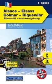 Wandelkaart Vogesen - Elsass / Colmar - Riquewihr | Kümmerly & Frey 01 | 1:35.000 | ISBN 9783259007259