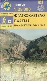 Wandelkaart Frangokastelo-Plakias -Kreta | Anavasi 11.17 | 1:25.000 | ISBN 9789609412216