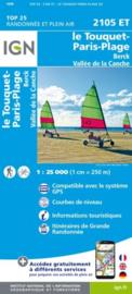 Wandelkaart Le Touquet-Paris-Plage, Berck, Étaples | Pays de Calais | IGN 2105 ET- IGN 2105ET