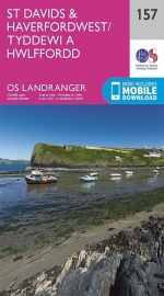 Wandelkaart Ordnance Survey | St David's & Haverfordwest 157 | ISBN 9780319262559