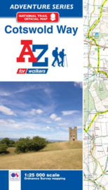 Wandelatlas Cotswold Way | A-Z Maps | 1:25.000 | ISBN 9781782571698
