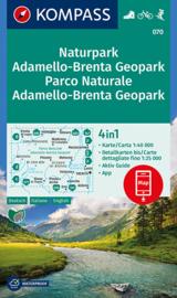 Wandelkaart Naturpark-Parco Naturale Adamello-Brenta | Kompass 070 | 1:40.000 | ISBN 9783990443842