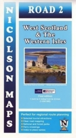 Wegenkaart  West Scotland and the Western Isles | Nicolson 02 |  ISBN 9781860973352 | 1:250.000
