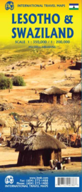 Wegenkaart Lesotho - Swaziland | ITMB | 1:350.000 / 1:200.000 | ISBN 9781771294386