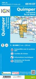 Wandelkaart 0519ET - 0519 ET Quimper, Concarneau, Fouesnant, Beg-Meil, iles de Glénan | Bretagne