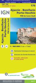 Wegenkaart - fietskaart Ajaccio - Bonifacio - Sartene - Corse du Sud | IGN 176 | ISBN 9782758547808