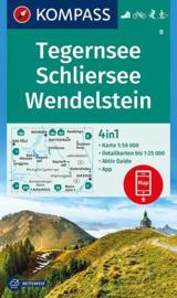 Wandelkaart Tegernsee - Schliersee - Wendelstein | Kompass 8 | 1:50.000 | ISBN 9783990444917