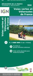 Fietskaart Frankrijk - overzichtskaart LF routes | IGN | ISBN 9782758547938