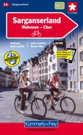 Fietskaart Sarganserland  | Kümmerly+Frey nr. 13 | 1:60.000 | ISBN 9783259005293