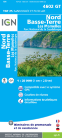Wandelkaart Nord Basse Terre - Guadeloupe | IGN 4602T | 1:25.000