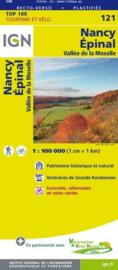 Wegenkaart - Fietskaart Nancy / Epinal | IGN 121 | ISBN 9782758540809