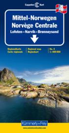 Wegenkaart Noorwegen Midden 4 | Kümmerly+Frey | 1:400.000 | ISBN 9783259010341