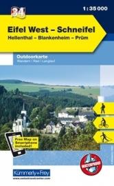 Wandelkaart Eifel West - Schneifel | Kümmerly & Frey 34 | 1:35.000 | ISBN 9783259009857