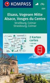 Wandelkaart - Fietskaart Elzas - Vogezen Midden | Kompass 2221 | 1:50.000 | ISBN 9783990444665