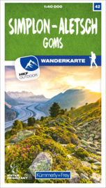 Wandelkaart Simplon - Aletsch - Goms | Kümmerly & Frey | 1:40.000 | ISBN 9783259023426