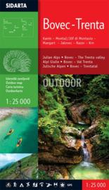 Wandelkaart Julische Alpen - Bovec Trenta | Sidarta |  1:25.000 | ISBN 3830008646361