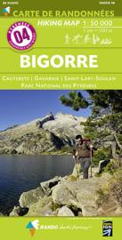 Wandelkaart Bigorre - PN des Pyrénées - Luz Ardiden - Col du Tourmalet ( Pyreneeën ) | Rando Editions 04 | ISBN 9782344008065