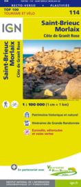 Wegenkaart - Fietskaart St. Brieuc - Morlaix |  IGN 114 | ISBN 9782758543633