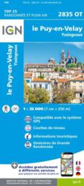 Wandelkaart Le Puy-en-Velay - Yssingeaux  | Auvergne |  IGN 2835OT - IGN 2835 OT
