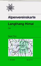 Wandelkaart Langthang Himal Ost | Alpenverein | 1:50.000
