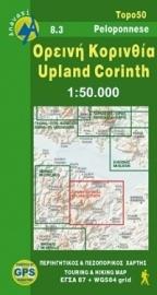 Wandelkaart Noordoost Korinthië - Upland Corinth - Peloponnesos |  Anavasi 8.3  | ISBN 9789608195462