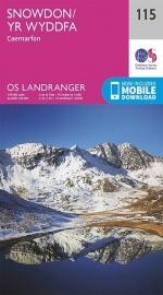 Wandelkaart Ordnance Survey | Snowdon to Caernarfon 115 | ISBN 9780319262139