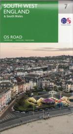 Wegenkaart Zuidwest Engeland & Zuid Wales | Ordnance Survey road map 7 | 1:250.000 | ISBN 9780319263792