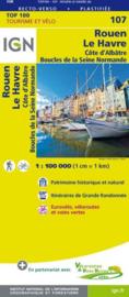 Wegenkaart - Fietskaart Rouen - Le Havre | IGN 107 | ISBN 9782758540786