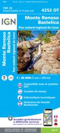 Wandelkaart Monte Renoso, Bastelica, PNR de la Corse | Corsica -  IGN 4252OT - 4252 OT