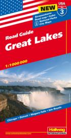 Wegenkaart Great Lakes nr.3 | Hallwag  | 1:1,2 miljoen | ISBN 9783828307544