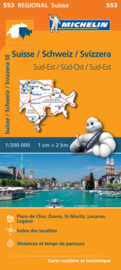 Wegenkaart Zwitserland  Zuidoost | Michelin 553 | 1:200.000 | ISBN 9782067183766
