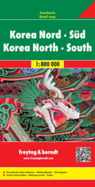 Wegenkaart Nord & Süd Korea | Freytag & Berndt |  Wegenkaart Noord en Zuid Korea / 1:800.000 | ISBN 9783707914184