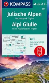 Wandelkaart Julische Alpen - Nationalpark Triglav | Kompass 064 | 1:25.000 | ISBN 9783990448700