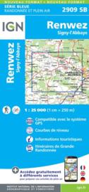 Topo-, Wandelkaart Renwez-Signy / L'Abbaye | IGN 2909SB | 1:25.000 | ISBN 9782758534402
