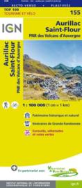 Wegenkaart - fietskaart Aurillac - Mauriac - St. Flour | Auvergne / Cantal | IGN 155 | ISBN 9782758540854