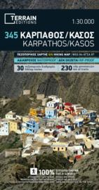 Wandelkaart Karpathos - Kasos | Terrain maps 345 | 1:60.000 | ISBN 9789609456388