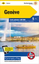 Wandelkaart  Geneve - Genf |  Kümmerly + Frey 21 | 1:60.000 | ISBN 9783259022214