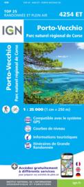 Wandelkaart Porto Vecchio, PNR de la Corse | Corsica - IGN 4254ET - 4254 ET