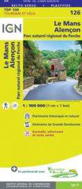 Wegenkaart - Fietskaart Le Mans - Alencon | IGN 126 | ISBN 9782758547525