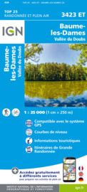 Wandelkaart Baumes-les-Dames, Vallee du Doubs | Jura | IGN 3423ET - IGN 3423 ET | ISBN 9782758550181